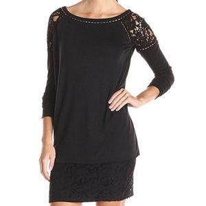 NWT BAILEY 44 Black Lace Long Sleeve Dress